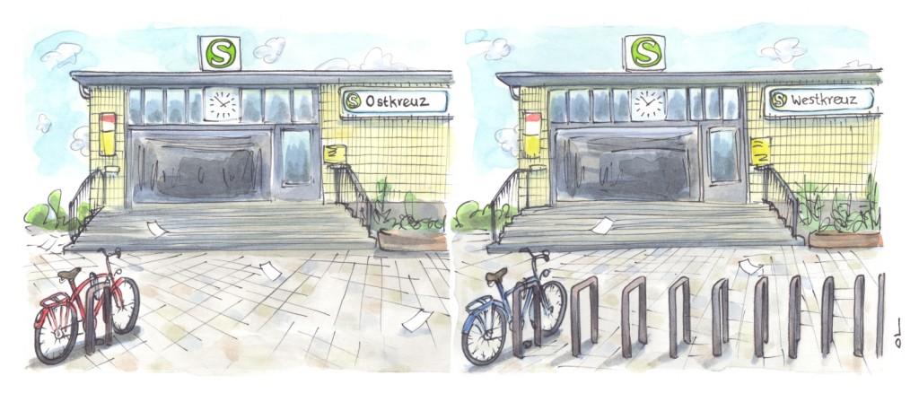 Paradiesische Zustände – Verkehrsplanerische Visionen an Ost- und Westkreuz