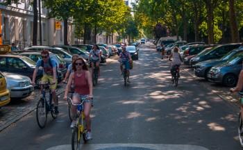 Fahrradstrasse Bergmannstrasse, Berlin-Kreuzberg, 7.August 2015 Foto: ShamrockMedia©Norbert Kesten