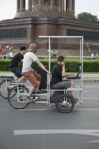 Mobiles Soundsystem auf zwei Lastenrädern