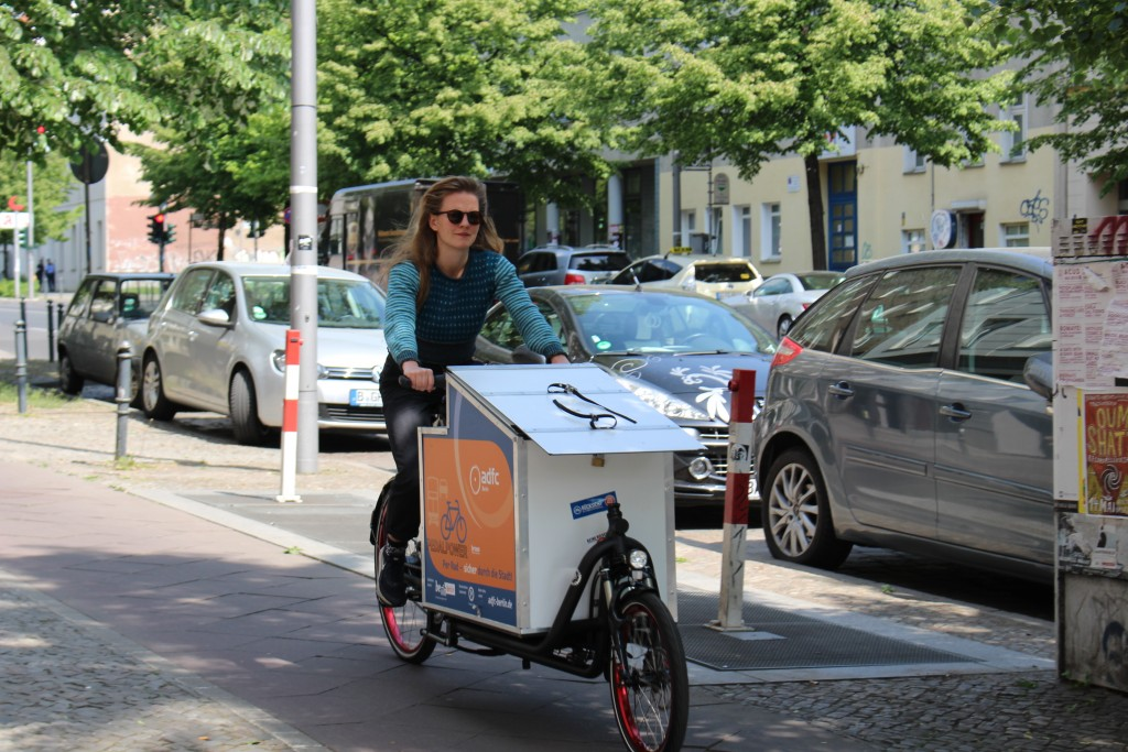 Bei Bedarf mobiler Infostand: Das neue ADFC-Lastenrad.