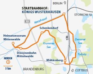 """Karte """"Kulinarik und Weinkultur"""""""